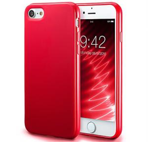 Fashionable Ultra-Thin Soft Red color Silicone Back Case For iPhone 7