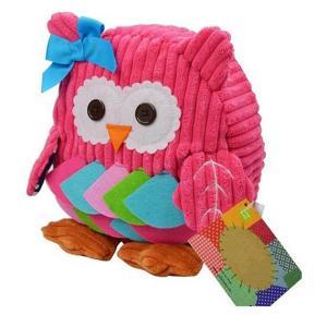 Cute Lightweight Soft Plush Owl Kids School Bag