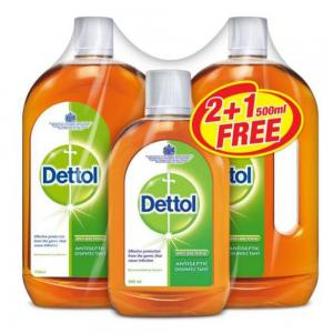 Dettol Antiseptic Disinfectant 750ml Buy 2 Get 1 Free 500ml