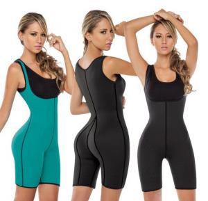 Sexy Women Neoprene Vest Full Bodysuit Shapewear Large, Gym Ultra Sweats Running Sporty Corset 908-4