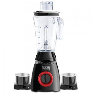 Black and Decker BL415-B5 400W Blender with Grinder, Grater Mill And Another Jar, Black