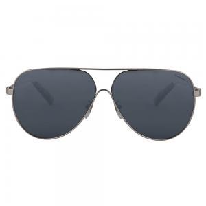 Chopard SCHC30 Silver Aviator Women Sunglasses, Black