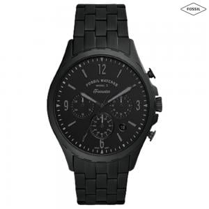 Fossil Forrester Chronograph Stainless Steel Mens Watch Black, FS5697