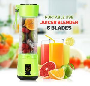 Portable And Rechargeable Battery 6 blade Juice Blender Assorted Color