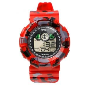 Digital Analogue Sport watch WR30M Red,Alg002