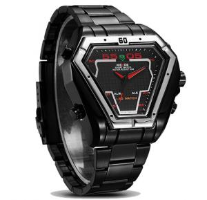 Weide WH1102 Quartz Waterproof Analog Digital Stainless Steel Sports Watch