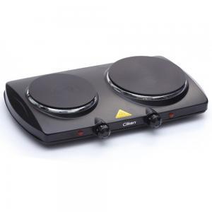 Clikon 2500Watts Double Hot Plate Black, CK4286