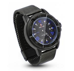 Kademan Water Resistant Stanless Steel Analoge Watch, Black Blue
