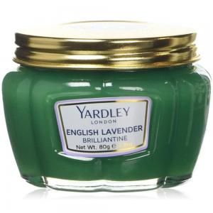 Yardley English Lavender Brilliantine Hair Paint, Hold & Styling Hair, adds shine and a mild refreshing fragrance ,80 g