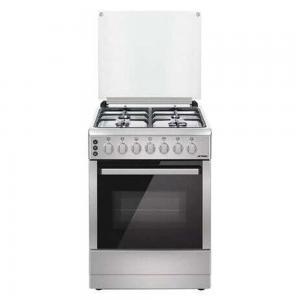 Aftron 4 Burner Cooking Range AFGR6570CFSD - Silver, Black