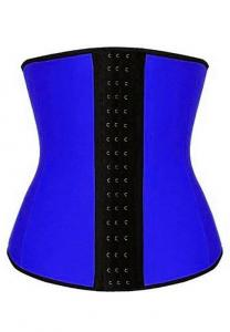 AKM Latexrubber Waist Training Cincher Corset For Women-Blue Free size