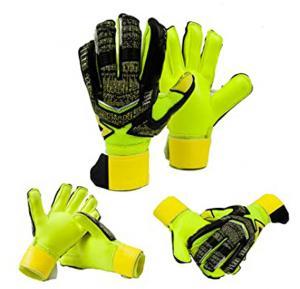 Goalkeeper Gloves With Fingertips Football Goalkeeper Children`s Adult Gloves Thick Latex Slip Protection Finger