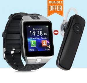 2 In 1 Bundle Offer BSNL A23 Smart Watch Black + BSNL Bluetooth Headset A17, Black