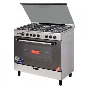 Super General 5-Burner Electric Cooking Range SGC901FS Silver-Black