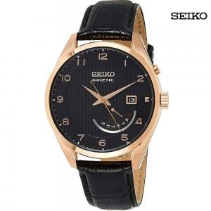 Seiko Men Analog Black Dial Watch, SRN054P1
