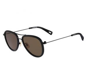 G-Star Aviator Black Frame & Dark Brown Mirrored Sunglasses For Unisex - GS112S-001