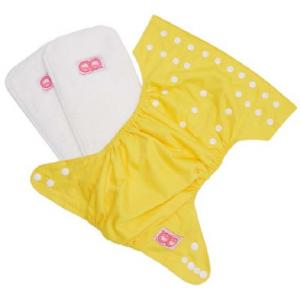 QQ Baby One Size Reusable Pocket Diaper With 2 Nappy, Qq-065