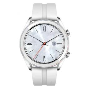 Huawei Watch GT (ELA-B19) Elegant Edition Smart Watch with Built-in GPS, GLONASS, Galileo (International Version) (White)