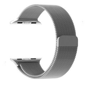 Generic Stainless Steel Magnetic Closure Band For Apple Watch Silver