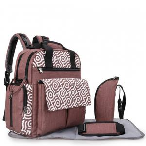 Alameda AL_010_BR Convertible Diaper Bag Backpack with Nappy Mat and Bottle Holder Brown