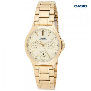 Casio LTP-V300G-7AVDF Analog Watch For Women, Gold