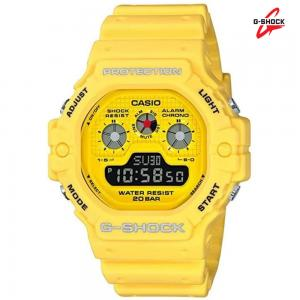 G-Shock Digital Mens Watch, DW-5900RS-9DR, Yellow