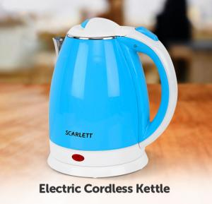 Scarlett 2L Stainless Steel Electric Cordless Kettle Assorted Color