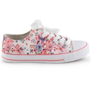 okko flower pattern girls sneaker - GH-825, Pink