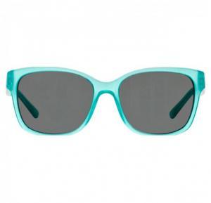 DKNY Wayfarer Turquoise Frame & Black Mirrored Sunglasses For Women - DY4096368387