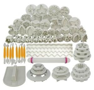 68Pcs Fondant Cake Decorating Modelling Tools Set DIY Sugar Craft Cake Decorating Fondant Cutters