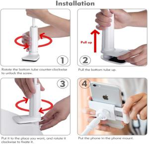 RIN High Quality Metal Flexible Lazy bracket holder for Mobile and Tablet