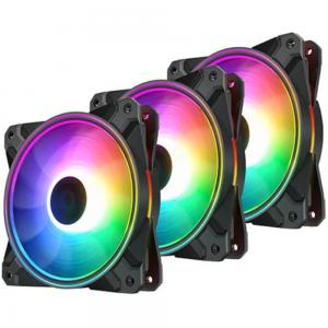 Deepcool DP-F12-AR-CF120P-3P CF120 PLUS ARGB Cabinet Fan Triple, Black