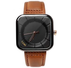 Tomi Brown & Black T093 Unisex Analog Watch for Men & Women