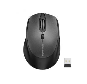 Promate Wireless Mouse, Ergonomic Lightweight 2.4Ghz Wireless Optical Mouse with USB Nano Receiver, 15m Working Ranger, Auto Sleep and Precision Scrolling for PC, Laptop, Tablet, Mac, Clix-5 Black