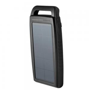 Promate 15000 Mah Outdoor Solar Power Bank with Dual USB Port