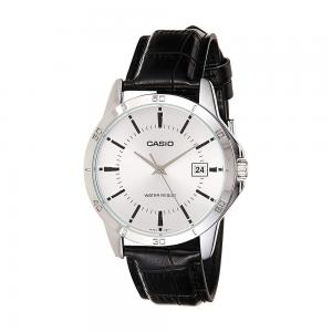 Casio Mens Analog White Dial Watch, MTP-V004L-7AUDF