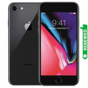 Apple iPhone 8 With FaceTime Space Gray 64GB 4G LTE Renewed- S