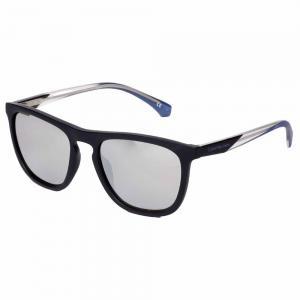 Calvin Klein CKJ821S Black Square Sunglasses For Unisex Silver Lens, Size 55