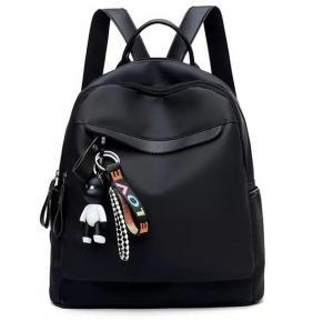 Trendy Korean Fashion Day Backpack for Girls Love Black