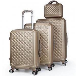 Royal Travel 4 Piece Hardside Luggage Travel Trolley Bag Set, Light Brown