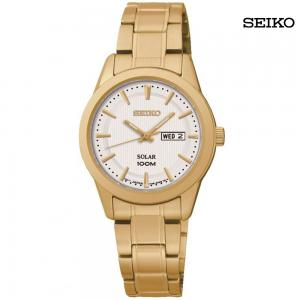 Seiko Ladies Analog Stainless Steel Watch, SUT164P1
