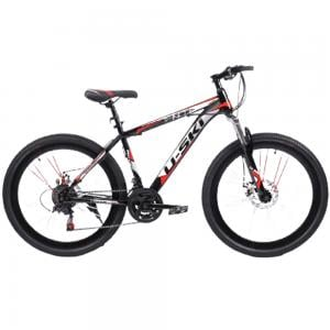 Carbon Steel Mountain Bike With 21 Multi Speed Disc Brakes, 26 Inches