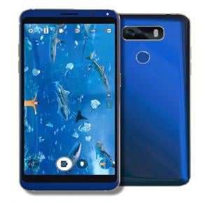 W&O M3 Smartphone, 4G, Android OS, 5.5 Inch HD Display, 3GB RAM, 32GB Storage, Dual Camera- Blue