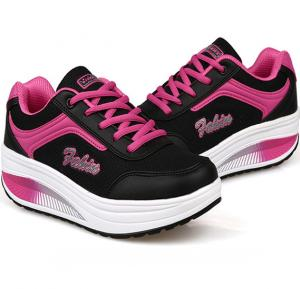 Summer Breathable Women Casual Sneakers Black, 36
