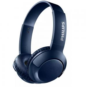 Philips SHB3075BL Wireless On Ear Headphone with Mic Blue