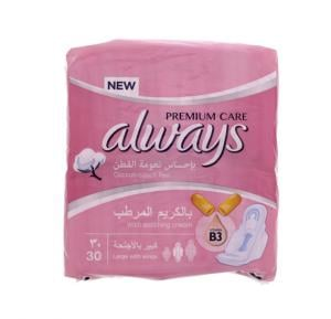 Always Premium Care Cotton Touch Feel Pads (1 x 30 = 30)