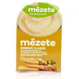 Mezete 12056 Hummus Classic with Bread Sticks (Snack Pack)