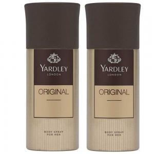Yardley Original Body Spray For Men 150ml, Pack of 2