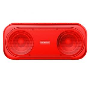Promate True Wireless Speaker, Powerful 10W Wireless Bluetooth V5.0 Stereo Speaker with Built-In Mic, OTIC.RED