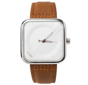 Tomi Brown & White T093 Unisex Analog Watch for Men & Women